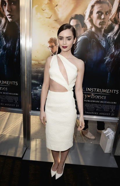 Lily Collins At The Mortal Instruments City Of Bones premiere 02